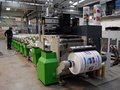 UV flexo press printing Royalty Free Stock Photo