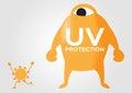 Uv protection giant vs sun light Royalty Free Stock Photo