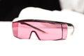 UV protective glasses for laser skin care