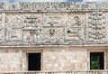 Uxmal Carved Wall Yucatan Mexico Stock Images