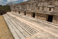 Uxmal nunnery quadrangle the west building ruin of in Stock Photography
