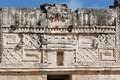 Uxmal wall carvings Royalty Free Stock Photo
