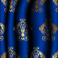 Uxury blue material with gold pattern vector illustration of luxury Royalty Free Stock Photography