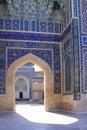 Uzbekistan samarkand gur e amir mausoleum decor building of timur tomb in city Stock Photos