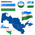 Uzbekistan set. Stock Photography