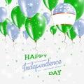Uzbekistan Vector Patriotic Poster. Independence.