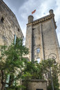Uzes france gard languedoc roussillon old buildings and garden Royalty Free Stock Images