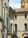 Uzes france gard languedoc roussillon old typical houses Royalty Free Stock Photos