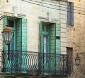 Uzes france gard languedoc roussillon old typical houses Royalty Free Stock Photo