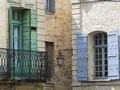 Uzes france gard languedoc roussillon old typical houses Stock Photo