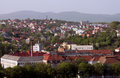 Uzhhorod city sight of at spring ukraine Royalty Free Stock Image