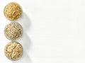 Vários tipos de cereais Imagens de Stock