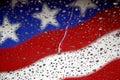 Våt flagga Arkivfoto