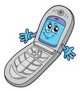 V cell phone open Royalty Free Stock Photo