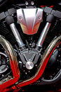 V-Twin Type Engine Stock Images