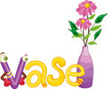 V for vase Stock Photography