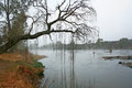 Vaal river on a misty winter morning Royalty Free Stock Images