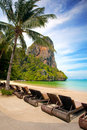 Vacances tropicales de ressource par la plage Photo stock