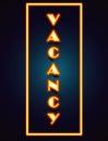 Vacancy Neon Sign Royalty Free Stock Photo