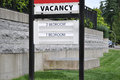 Vacancy sign Royalty Free Stock Photo