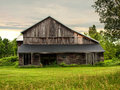 Vacant barn in the adirondack mountains Stock Photography