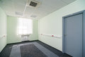 Vacant office room empty space in modern building Stock Photo