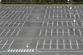Vacant parking lot lane outdoor in public Stock Images