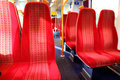 Vacant seats train Royalty Free Stock Photo