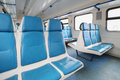 Vacant seats in the train Royalty Free Stock Photo