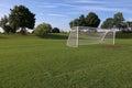 Vacant Soccer Net Royalty Free Stock Photo
