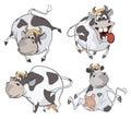 Vacas felizes clipart cartoon Imagens de Stock