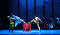 Vacated leaps the third act of dance drama shawan events of the past guangdong town is hometown ballet music focuses on historical Stock Image