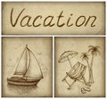 Vacation background Stock Image