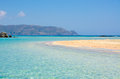 Vacation in Crete with Paradise Beach Elafonisi Royalty Free Stock Photo
