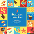 Vacation frame summer template card vector background Stock Image