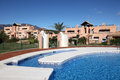 Vacation resort with pool, Spain Royalty Free Stock Images