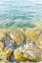 Vacation, Rocks by the Mediterranean sea on the island of Ibiza Royalty Free Stock Photo