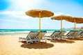 Vacation in spain mediterranean sea concept beach costa del sol Stock Photos