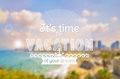 Vacation time. Vector card. Blurred background. Royalty Free Stock Photo