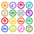 Vacation, Travel & Recreation, icons set Royalty Free Stock Photography