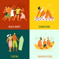 Vacation 2x2 Design Concept Royalty Free Stock Photo