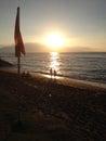 Vacationers enjoy sunset maui hawaii islands usa holiday maker enjoying watch sun set over ka anapali shore from dimond resorts Royalty Free Stock Photography