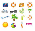 Vacations icons over white background vector illustration Royalty Free Stock Photography