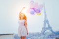 Vacations in Paris, colorful dreams Royalty Free Stock Photo