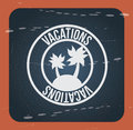 Vacations seal over vintage background vector illustration Stock Photography