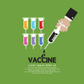 Vaccine hand holding syringe with inside Royalty Free Stock Photos