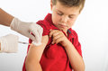 Vaccine to prevent macro photograph of a doctor vaccinating a child Stock Photo