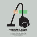Vacuum cleaner hand holding vector illustration Royalty Free Stock Images