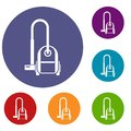Vacuum cleaner icons set