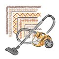 Vacuum cleaner sketch for your design this is file of eps format Stock Images